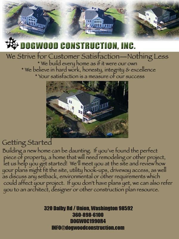 Dogwood Construction Home Builders Shelton Wa And Mason County